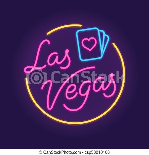 Señal de neón de Las Vegas - csp58210108
