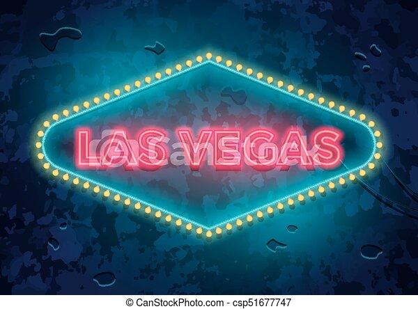 Señal de Neon Las Vegas - csp51677747