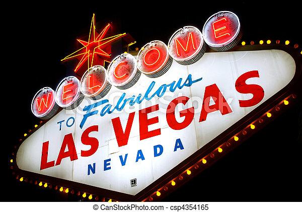 Bienvenidos a Las Vegas, Nevada (USA) - csp4354165