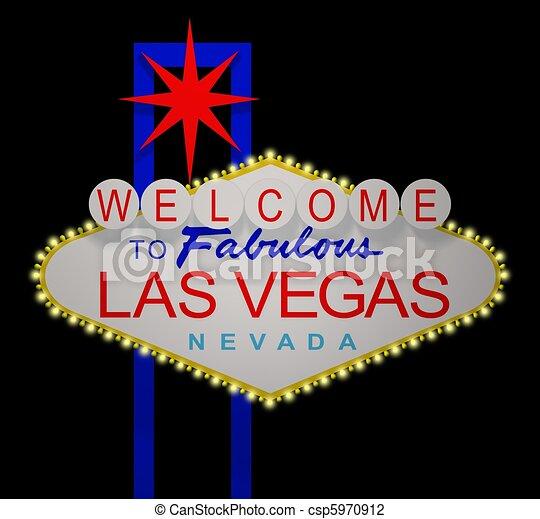 Una señal de Las Vegas - csp5970912