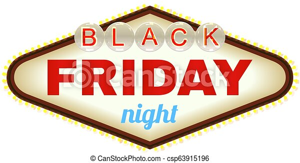Viernes negro. El cartel de Las Vegas. Vector - csp63915196