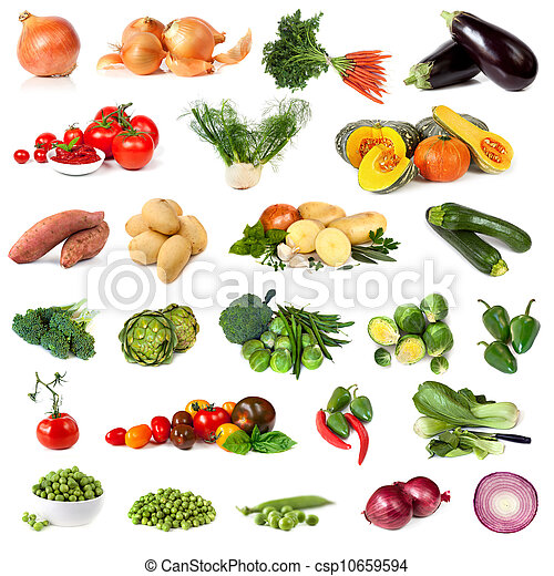 Vegetable Collection Isolated on White - csp10659594
