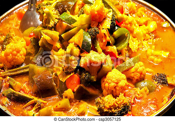 Vegetable curry - csp3057125