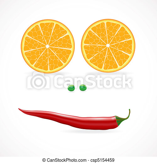 Vegetable face vector illuctration - csp5154459