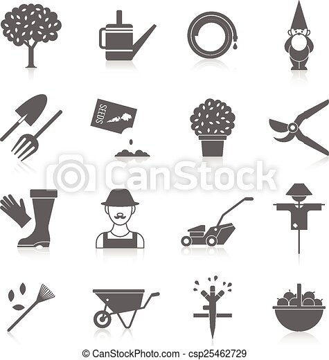 Vegetable garden icons set - csp25462729