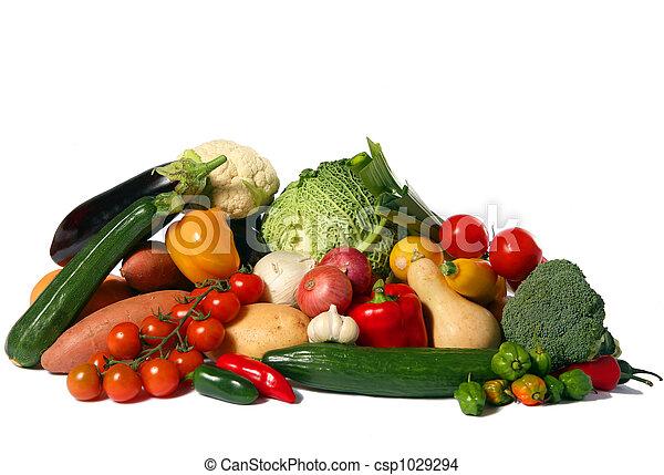 Vegetable harvest isolated - csp1029294