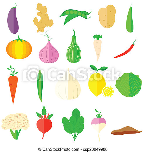 Vegetable Icon Easy To Edit Vector Illustration Of Vegetable Icons