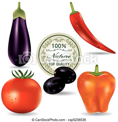 Vegetable icons set.  - csp5236536