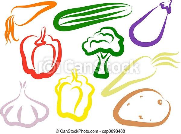 Vegetable Icons - csp0093488