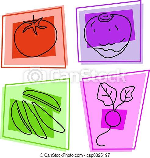 vegetable icons - csp0325197