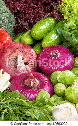 Vegetable in composition - Close-up - csp12693239