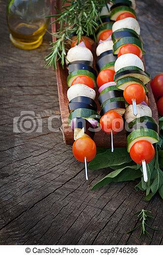 Vegetable kebab - csp9746286