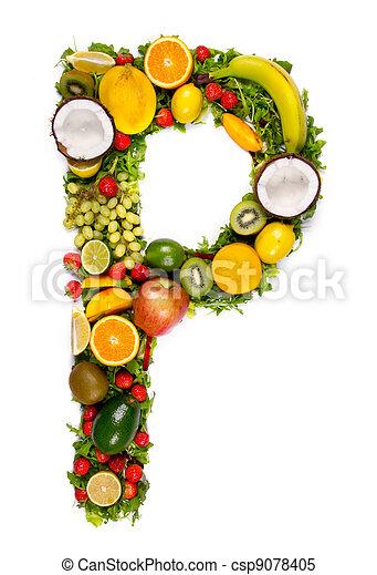 Vegetable letter - csp9078405