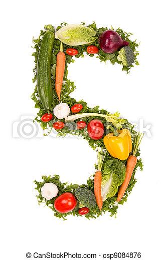 Vegetable number - csp9084876