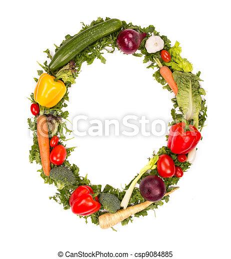 Vegetable number - csp9084885
