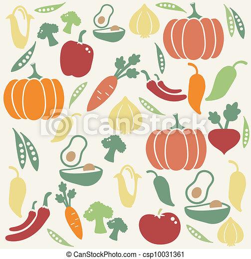 Vegetable pattern - csp10031361