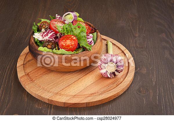vegetable salad in bowl - csp28024977