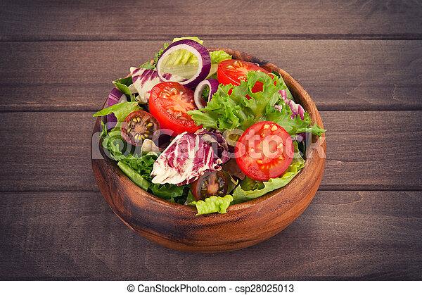 vegetable salad in bowl - csp28025013