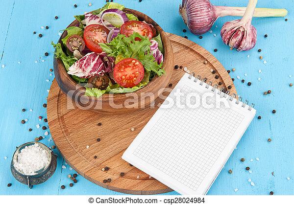 vegetable salad in bowl - csp28024984