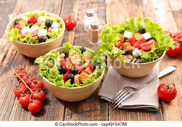 vegetable salad in bowl - csp49154788