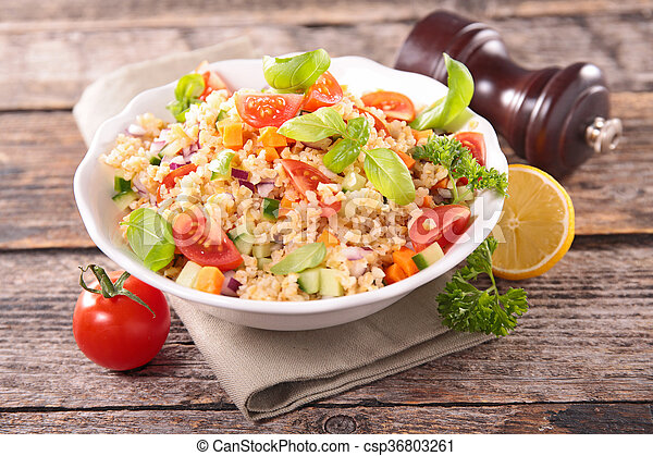 vegetable salad in bowl - csp36803261