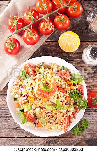 vegetable salad in bowl - csp36803263
