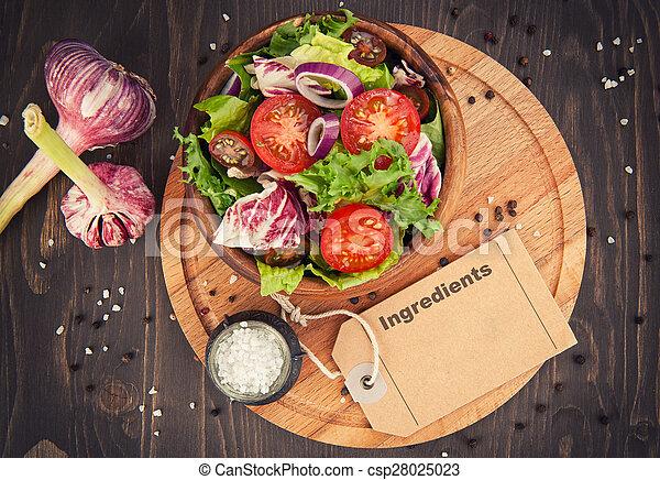 vegetable salad in bowl - csp28025023