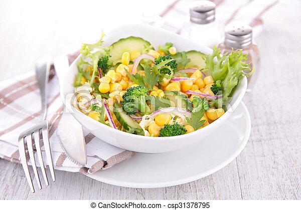 vegetable salad in bowl - csp31378795
