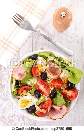 vegetable salad in bowl - csp37801698