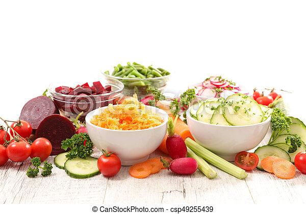 vegetable salad in bowl - csp49255439
