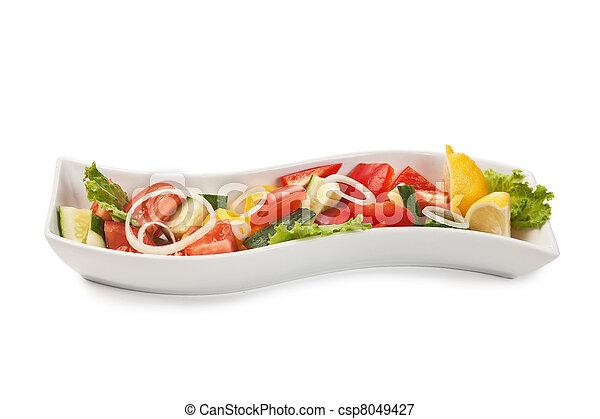 Vegetable salad isolated - csp8049427