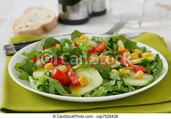 Vegetable salad on a plate - csp7526438
