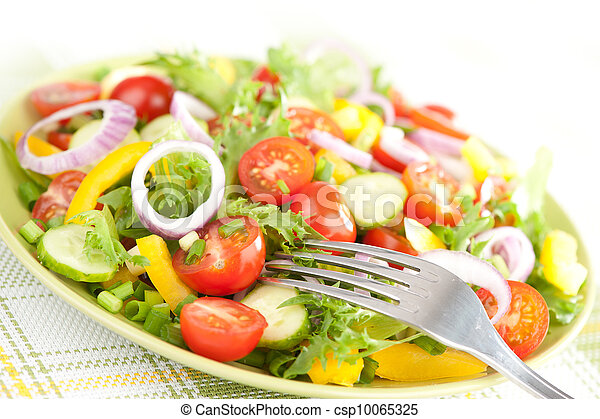 vegetable salad on a plate - csp10065325