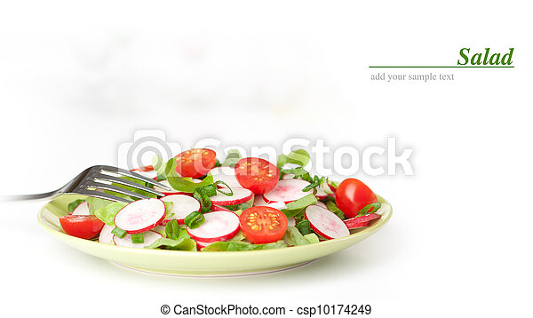 vegetable salad on a plate - csp10174249