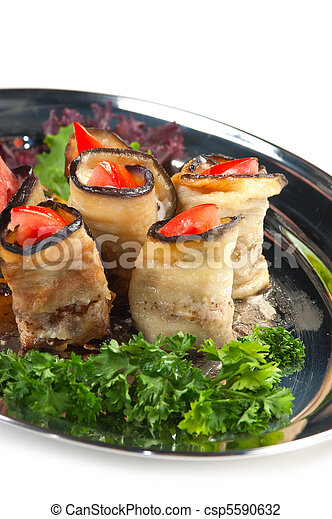 Vegetable salad on a plate - csp5590632