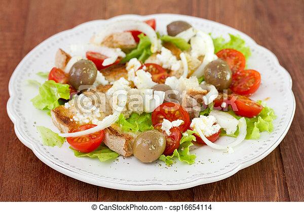 vegetable salad on plate - csp16654114