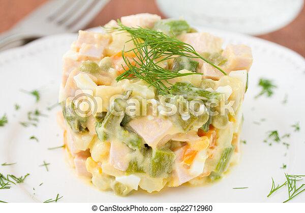 vegetable salad on plate - csp22712960