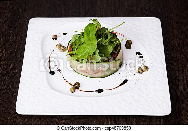 Vegetable salad on plate - csp48703850