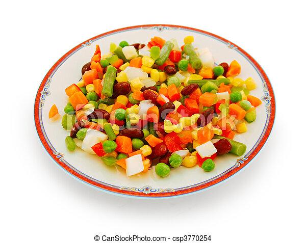 Vegetable salad on plate - csp3770254