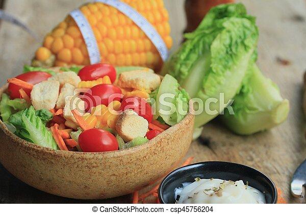Vegetable salad - csp45756204
