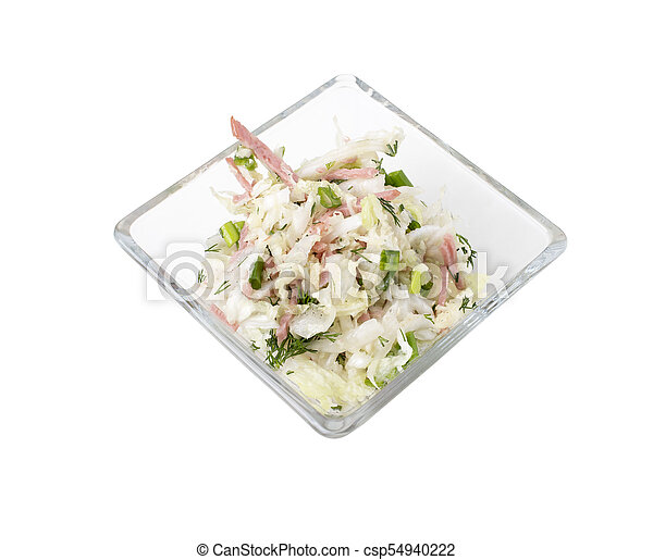Vegetable salad with bacon. - csp54940222