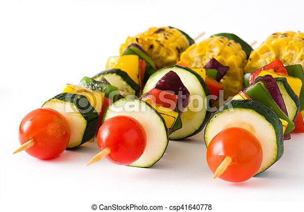 Vegetable skewers - csp41640778