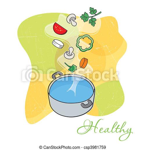 Vegetable soup - csp3981759