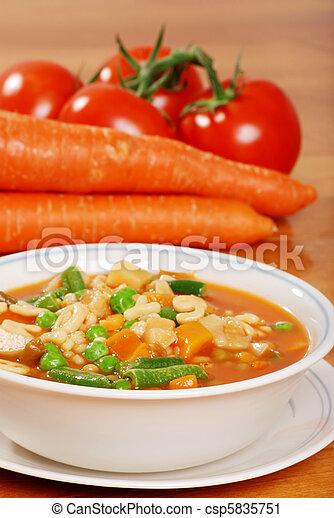 vegetable soup - csp5835751