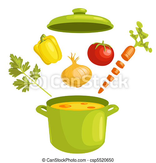 Vegetable soup with ingredients - csp5520650