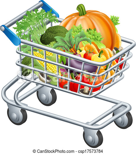 vegetable trolley an illustration of a trolley or vector rh canstockphoto com baby trolley clipart supermarket trolley clipart