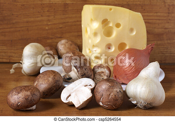Vegetables and cheese - csp5264554