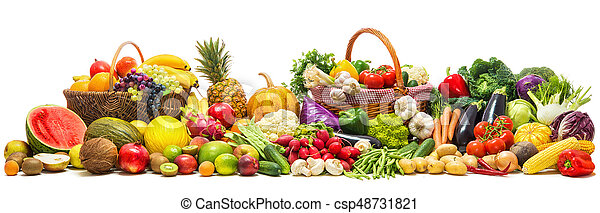 Vegetables and fruits background - csp48731821
