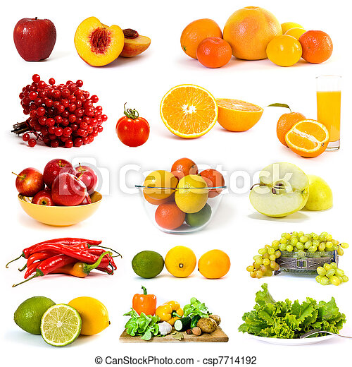 Vegetables and fruits collection - csp7714192