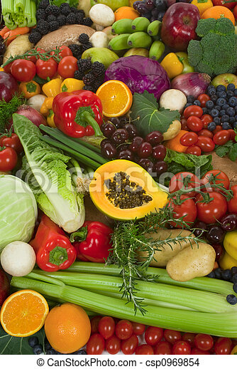 Vegetables and Fruits - csp0969854